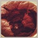 Day 14: Love is...half eaten homemade chocolate soufflé